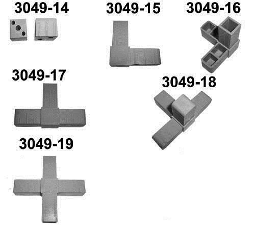 Steckverbindung Für 4 Alu Vierkant Stange Graf Gmbh